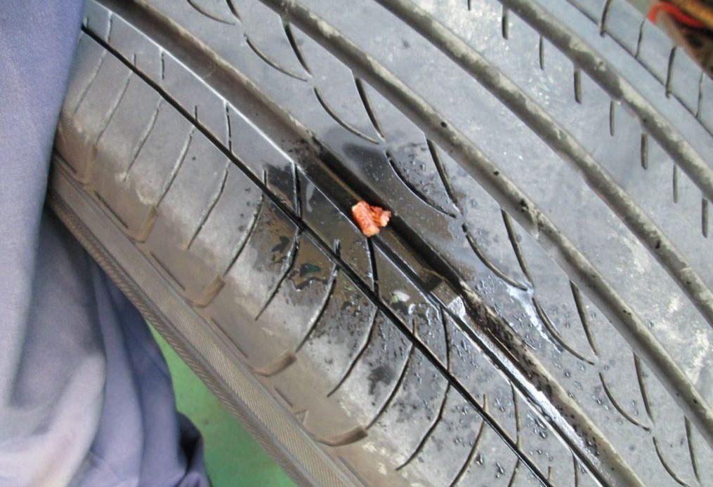 SAI タイヤ 修復後