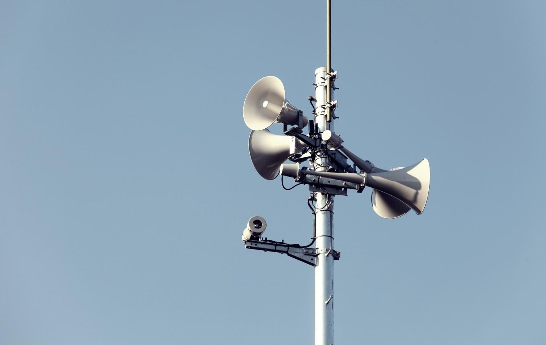 防災無線の警報機