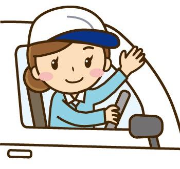 ATの軽トラを運転する女性