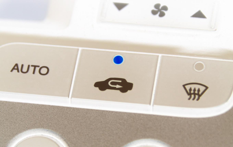 内気循環と外気導入の切り替えスイッチ