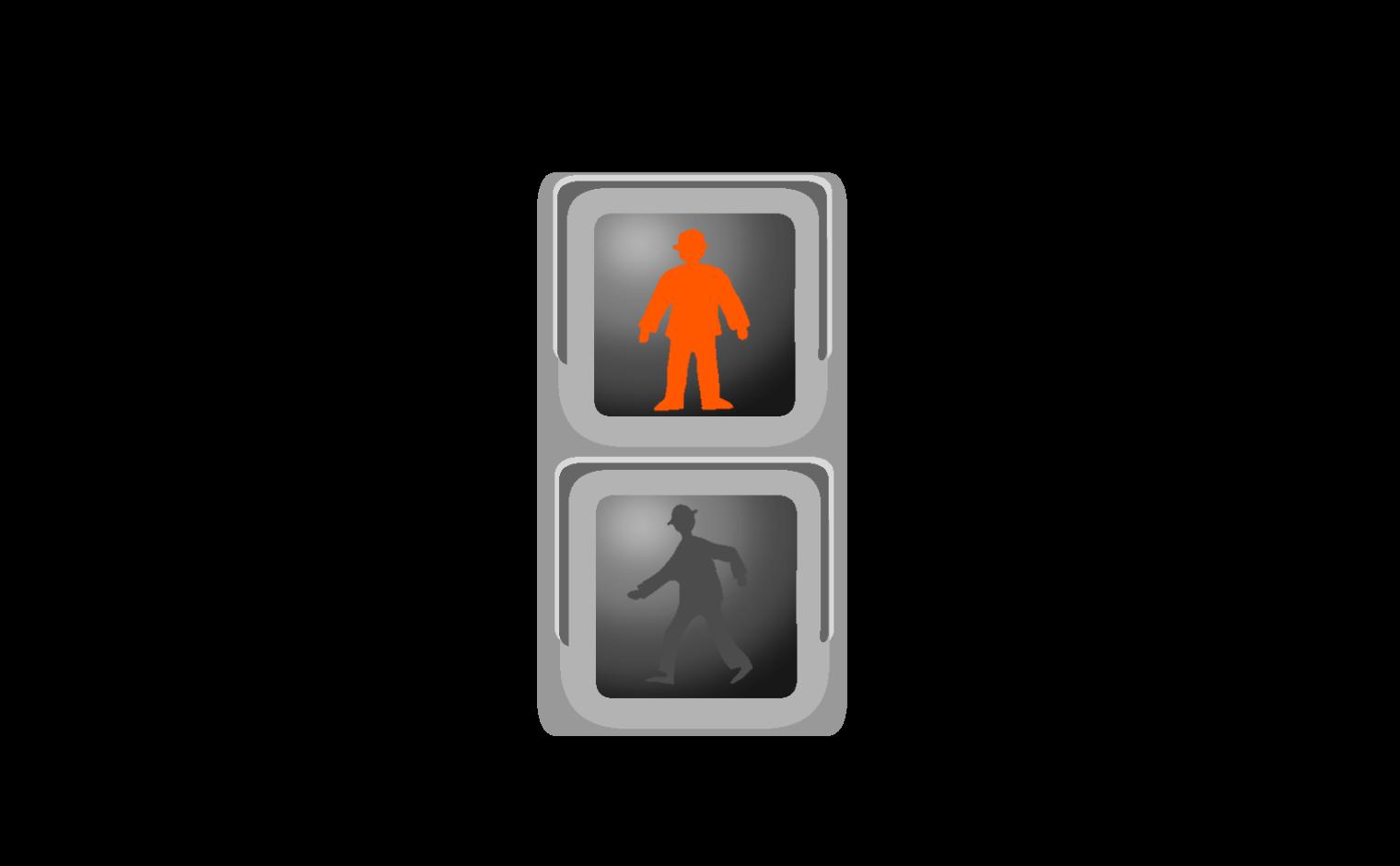 歩行者の信号無視で事故